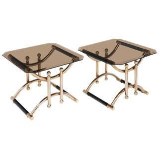 Maison Lancel French Mid-Century Side Tables- A Pair