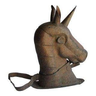 Antique American Copper Unicorn Head Carnival Ride