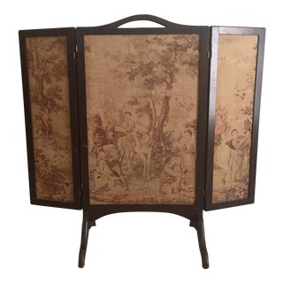 Victorian Toile Fireplace Screen