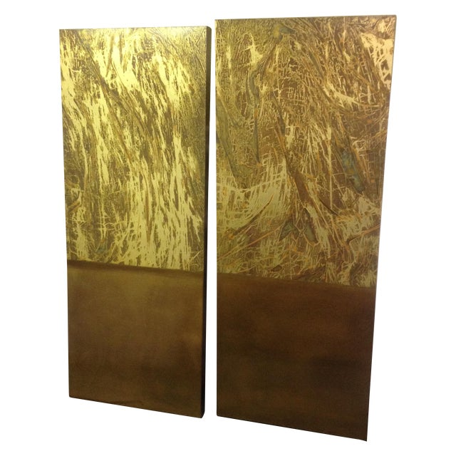 Copper Art Work Panels - A Pair - Image 1 of 9