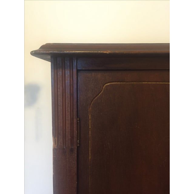 Antique Edwardian Wood Armoire - Image 4 of 10