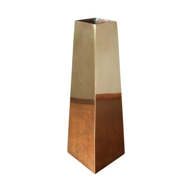 Vintage Brass Vase - Image 1 of 10