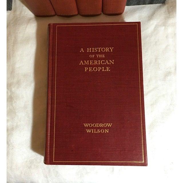 Image of Woodrow Wilson Antique History Books - Set of 5