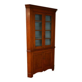 Antique 19th Century Cherry wood Corner Cabinet