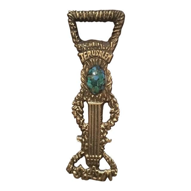 Antique Brass Jerusalem Bottle Opener - Image 1 of 5