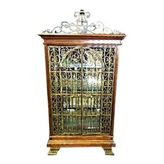 Baroque Iron Cherry Display Curio China Cabinet