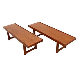 Torbjørn Afdal Teak 'Korbo' Tables / Benches - Pair