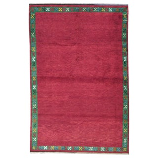 Red Tulu with Green Border