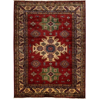 """New Kazak Hand Knotted Area Rug - 5'1"""" x 6'10"""""""