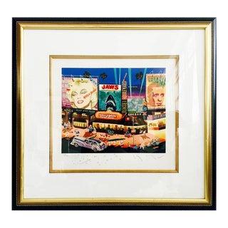 """1985 Hiro Yamagata Serigraph """"Los Angelas"""" Hand Signed Painting"""