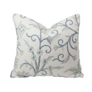 French Blue Kashmiri Pillow