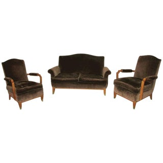 Jean Pascaud Style French Art Deco Living Room Set