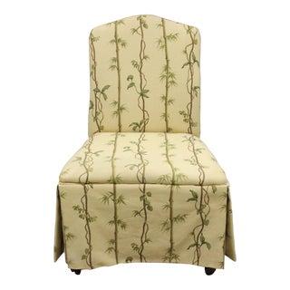 Children's Slipper Chair With Bamboo Trellis Print Fabric