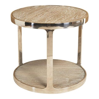 Recycled Elm Industrial Side Table