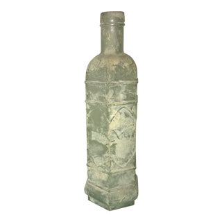 Antique Frosted & Textured Glass Bottle