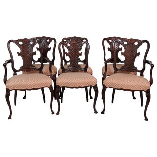 French Provincial Mahogany Dining Chairs - Set of 6