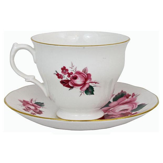 Queen Anne Teacup & Saucer - A Pair - Image 2 of 7