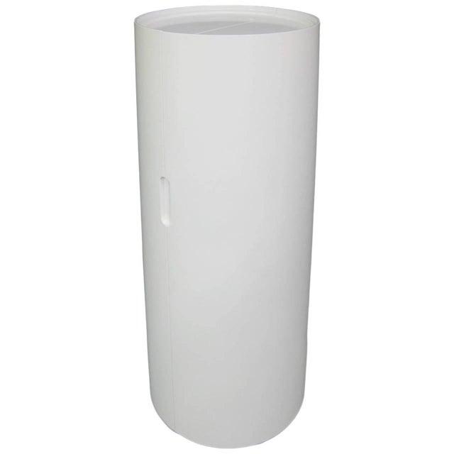 White Lacquer Cylindrical Folding Bar - Image 2 of 10