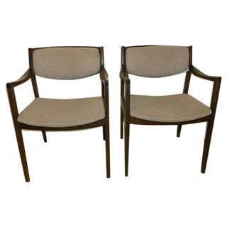 Mid Century Modern Gunlocke Chairs - Pair