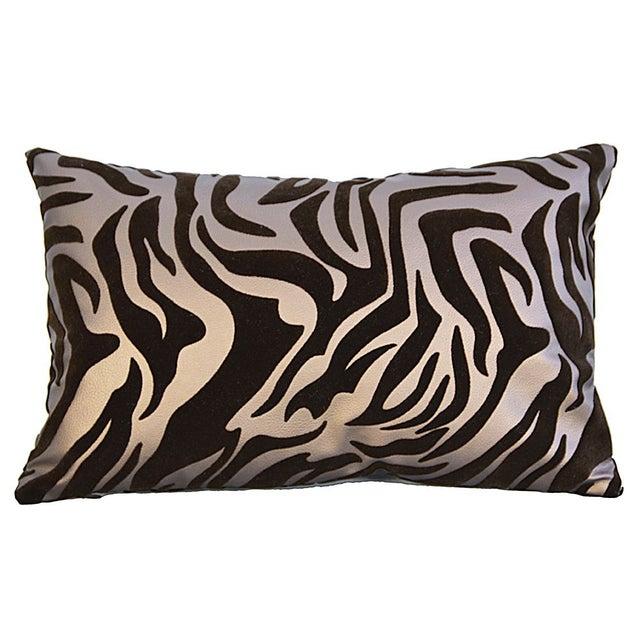 Decorative Faux Leather Pillows : Zebra Faux Leather Decorative Pillow - A Pair Chairish