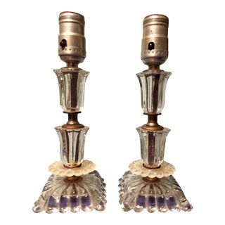 French Bedside Lamps - A Pair