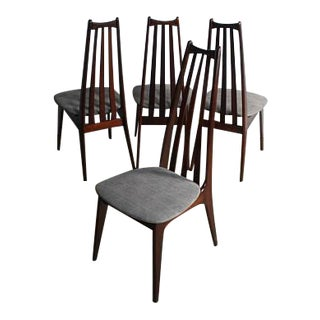 Adrian Pearsall Walnut Dining Chairs - Set of 4