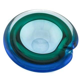 Blue & Green Murano Bowl