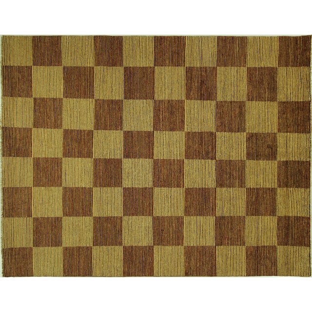 "Checkered Gabbeh Kashkuli Rug - 8'2"" x 10'6"" - Image 1 of 10"