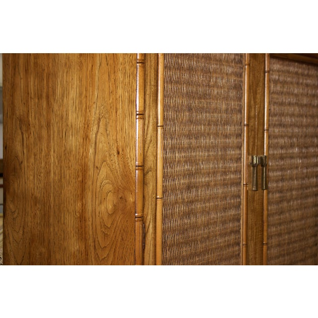 Mid-Century Faux-Bamboo Armoire by Lane Furniture - Image 7 of 8