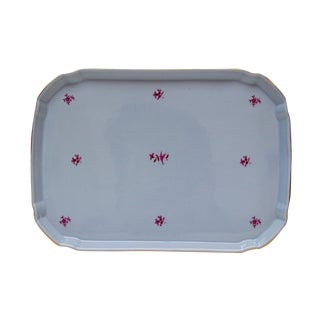 German Blue & Gold Porcelain Vanity Tray