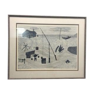 1964 Fumio Kitaoka Woodblock Print