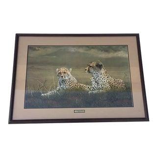 "Vintage Cheetah Art Print Safari Hollywood Regency Charles Frace 40"""