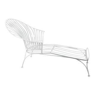 Francois Carre Vintage Fan Back Patio Chaise Lounge