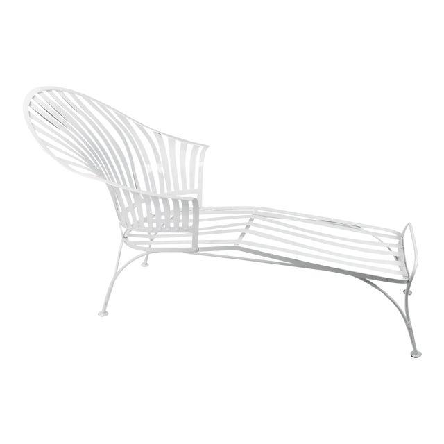 Francois Carre Vintage Fan Back Patio Chaise Lounge - Image 1 of 11