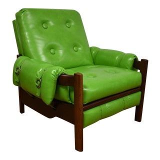Percival Lafer-Style Green Lounge Chair