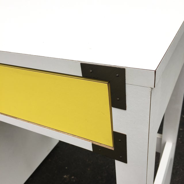 Mid-Century Modern Campaign Desk - Image 9 of 11