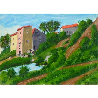 French Painting of Villas in Provence, C. 1950
