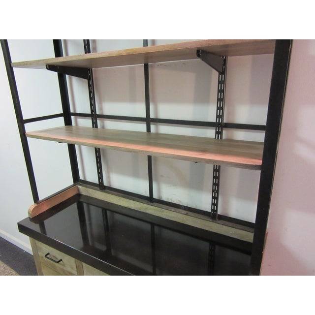 Inudstrial Back Hutch & Stone Type Top - Image 10 of 11