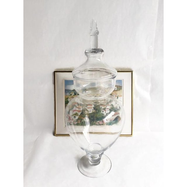Image of Vintage Tall Glass General Store Jar