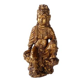 Hand Craved Wood Buddha Statue