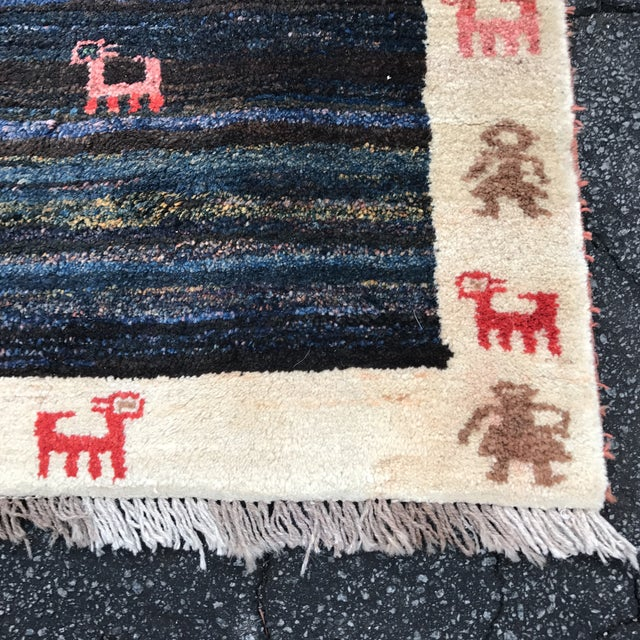 "Vintage Persian Gabe Area Rug- 6'5"" x 4'7"" - Image 5 of 11"