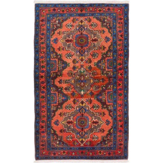 "Traditional Semi-antique Shiravan Rug - 4'5"" x 7'6"""
