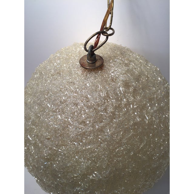 Image of Vintage Lucite Pendant Light