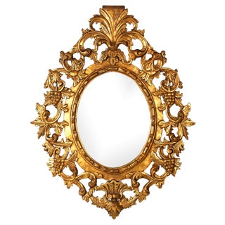 19th-C. Baroque-Style Gilt Mirror