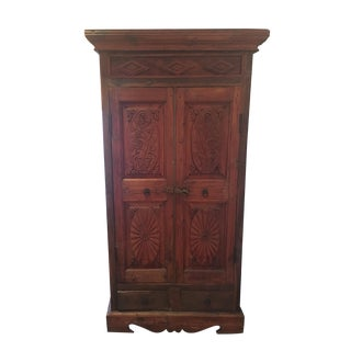 Antique Indian Colonial Wedding Armoire