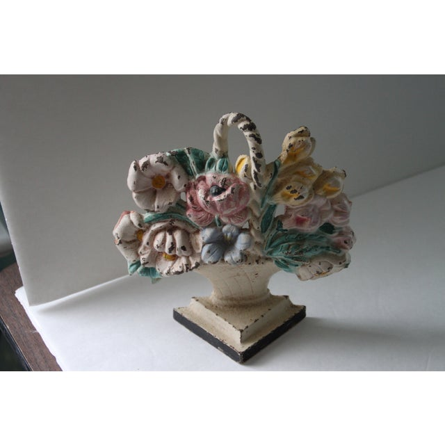 Antique Cast Iron Floral Doorstop - Image 4 of 6