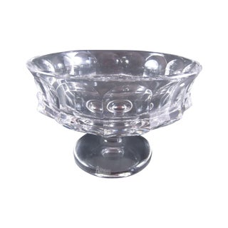 Modern German Crystal Footed Bowl