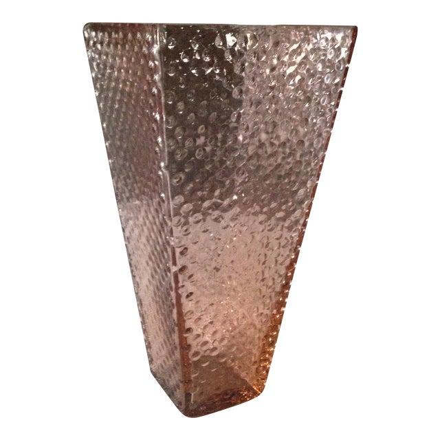 Vintage Pink Glass Hobnail Vase - Image 1 of 11