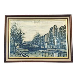 """Bernard Buffet """"Canal St Martin"""" Lithograph"""