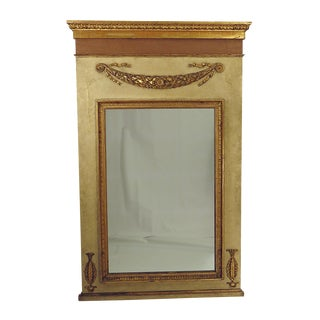 Large Neoclassical Painted and Giltwood Mirror, circa 1830